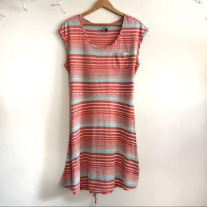 The North Face Kambra Stripe dress in Orange LG